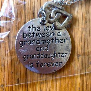 Jewelry - Grandma Granddaughter Hearts Pendant Necklace